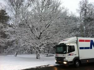 In de winter